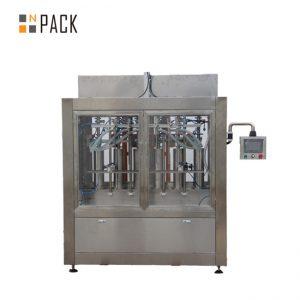 מכונת מילוי נוזלים כימיים במפעל