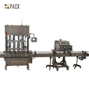 מכונת מילוי שמן צמחי כימיקלים לחקלאות נירוסטה