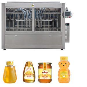 רוטב דבש אוטומטית סרוו סוג בוכנה ריבת דבש צמיגות גבוהה מילוי נוזלים מכונה תיוג מכסת קו